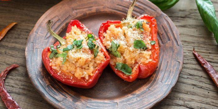 Перец со шпинатом и сыром. \ Фото: google.com.
