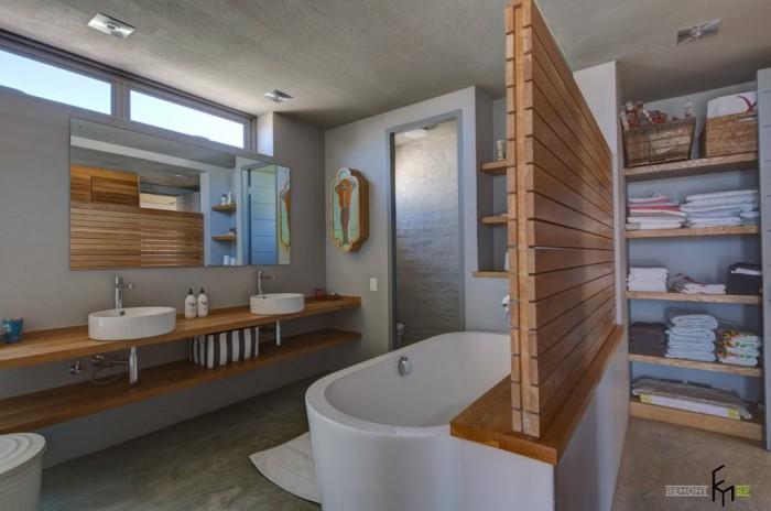 Деревянные перегородки для ванной.