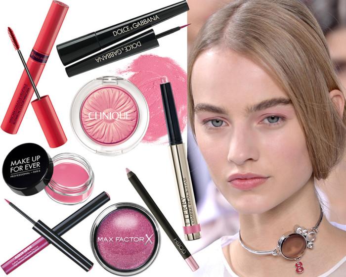 Макияж в розовом цвете. \ Фото: modnaya.org.
