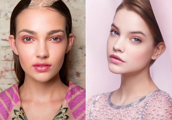 Нюдовый макияж в розовых тонах. \ Фото: google.com.ua.