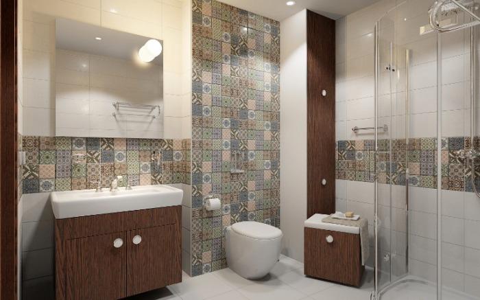 Этот популярный сегодня стиль идеально смотрит в ванной комнате и не только.