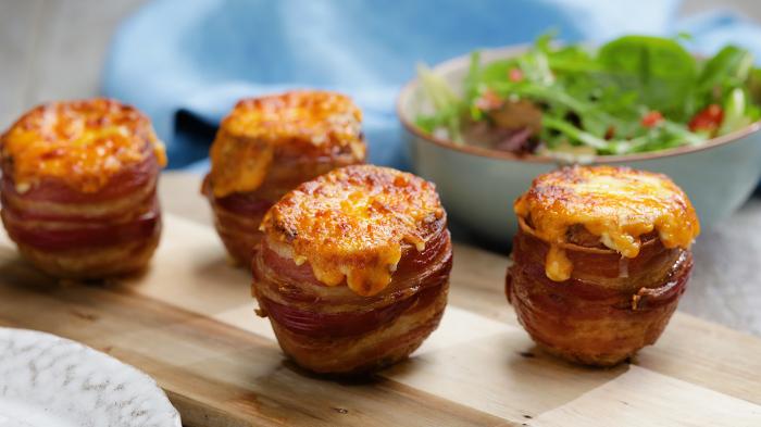 Картошка, запечённая с беконом. \ Фото: tastemade.fr.