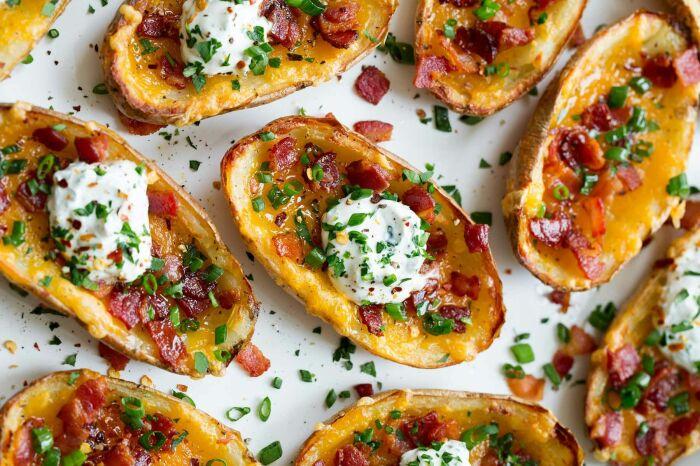 Запечённые картофельные лодочки. \ Фото: damaktadi84.com.