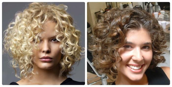 Мелкие кудри для средней длины волос. \ Фото: pro100sovet.info.