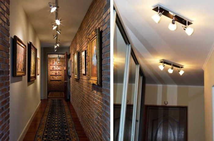 Споты - накладные или встраиваемые светильники с поворотными плафонами. \ Фото: stroychik.ru.