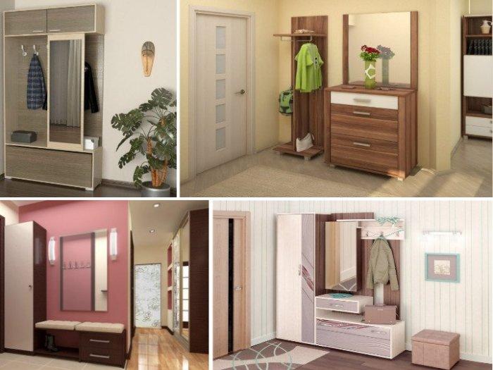 Варианты мебели для маленькой прихожей. \ Фото: vdomax.ru.