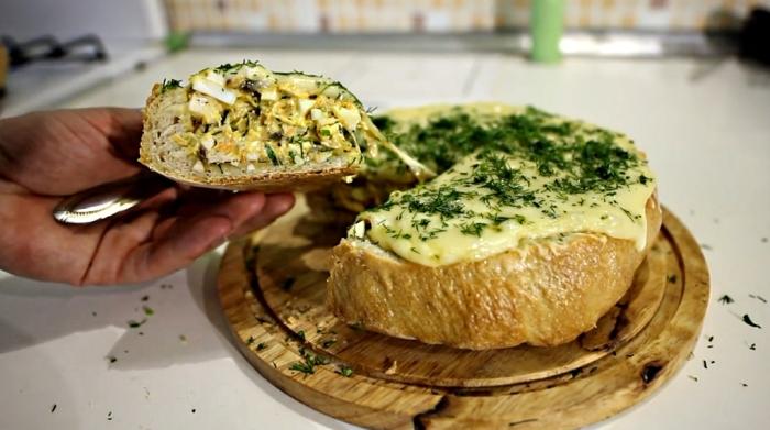 Фаршированный хлеб. \ Фото: fatma.ru.