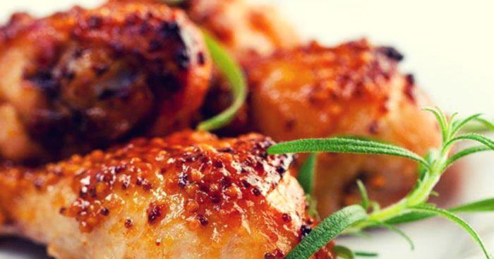 Нежный цыпленок под медовым соусом. \ Фото: scastje-est.ru.