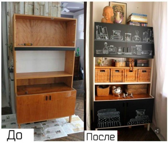 Декупаж старой мебели. \ Фото: pinterest.com.