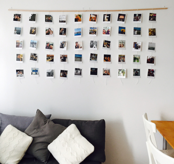 Украшение стен фотографиями. \ Фото: remoo.ru.