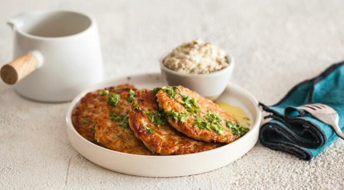 Рисовые оладушки. \ Фото: pinterest.com.