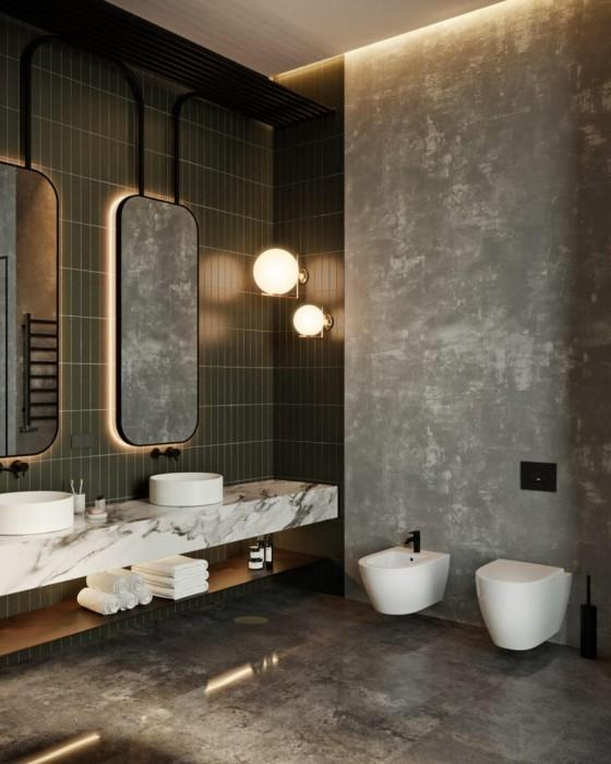 Такие обои обладают целым рядом преимуществ, благодаря чему возможно их использование даже в ванной комнате и санузле.