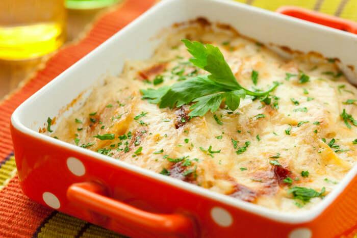 Запеканка с картофелем и квашеной капустой. \ Фото: montougo.ca.