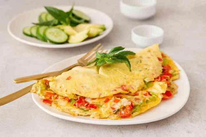 Омлет с овощами. \ Фото: gourmet4life.com.