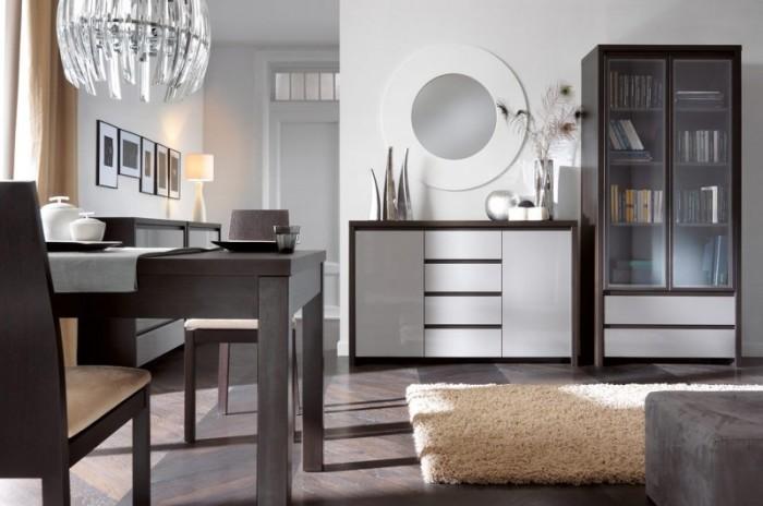 Серая мебель в интерьере.