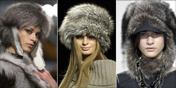 Тёплые пушистые шапки. \ Фото: google.com.