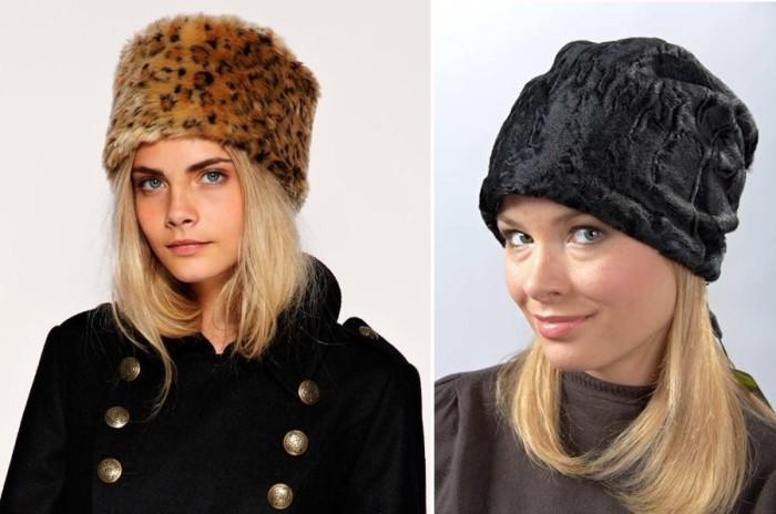 Модные меховые шапки. \ Фото: fashion-weeks.info.