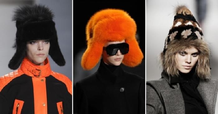 Модные шапки-ушанки. \ Фото: geekinradio.com.