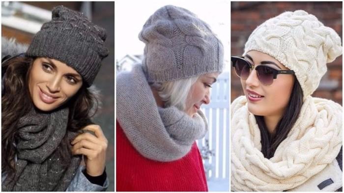 Вязаные шапки-бини. \ Фото: youtube.com.