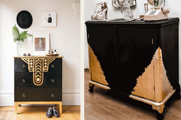 Позолота старого шкафа. \ Фото: trizio.ru.