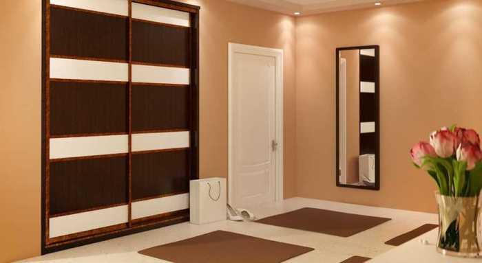 Встроенный шкаф-купе запросто можно расположить в любой свободной нише.
