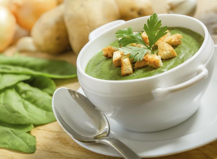Крем-суп из шпината. \ Фото: espanarusa.com.