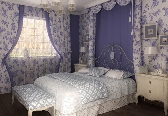 Главный элемент – это большая и комфортная кровать.
