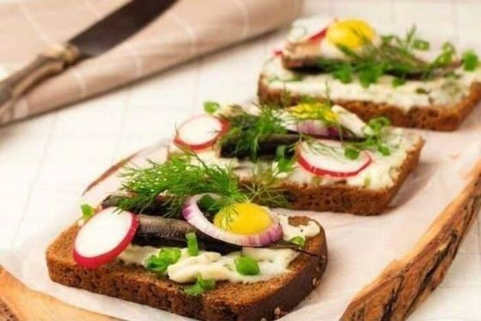 Бутерброд по-норвежски. \ Фото: pinterest.com.