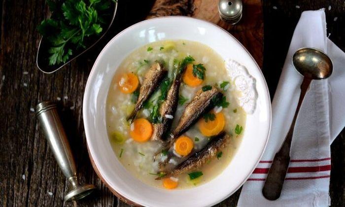 Шпротный суп. \ Фото: delfi.lv.