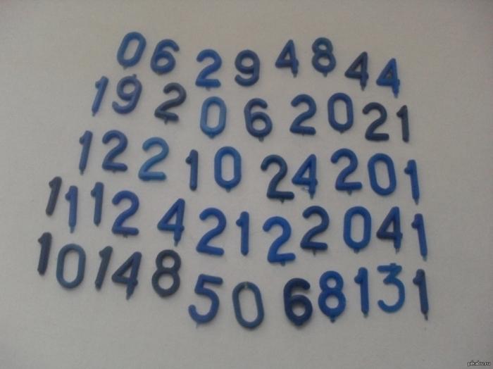 Циферки из сыра. \ Фото: livejournal.com.
