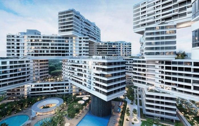 Уникальный дизайн отходит от стандартной типологии изолированных вертикальных башен, столь популярных в Сингапуре, демонстрируя совершенно иной подход к жизни в тропическом лесу.