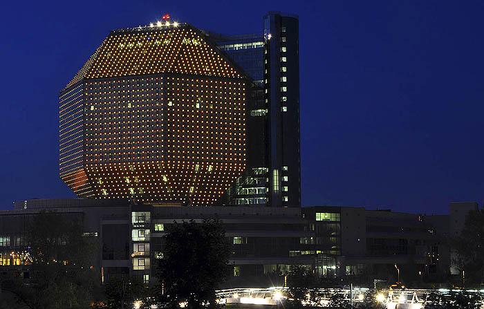 Торжественная церемония открытия «белорусского бриллианта» состоялась 16 июня 2006 года.