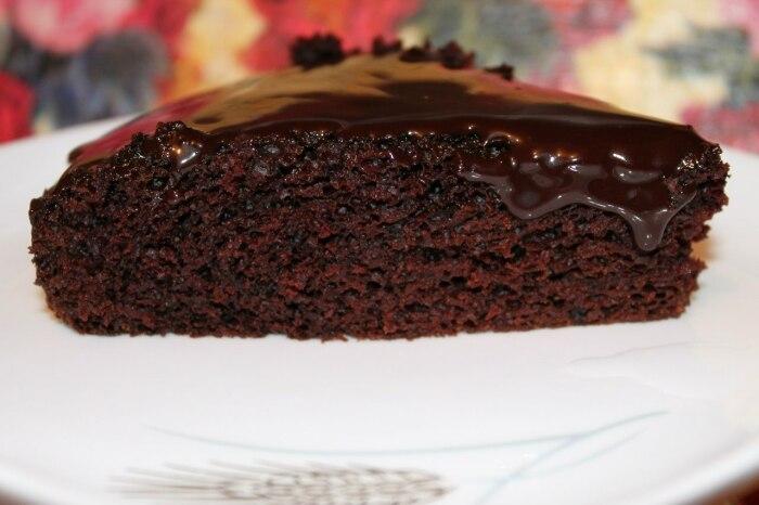 Шоколадный пирог. \ Фото: facebook.com.