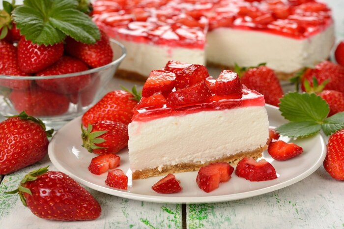 Десерт с творожным кремом. / Фото: dzivei.lv.