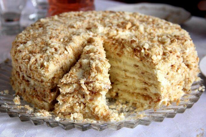 Заварной торт. / Фото: pinimg.com.