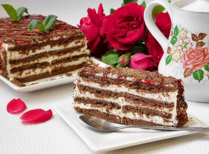 Аппетитный и простой тортик. / Фото: twitter.com.