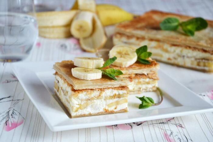 Банановый десерт. / Фото: yandex.ru.