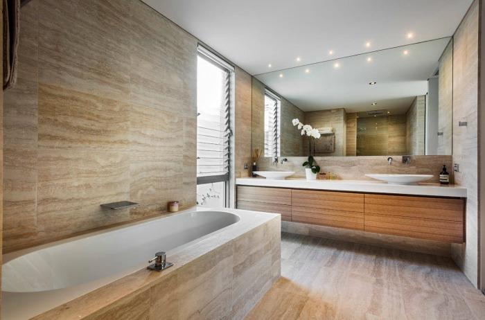 Нежнее нежного. Приятное сочетание различных текстур имитирующих камень или дерево – идеальное решение для отделки стен и пола.