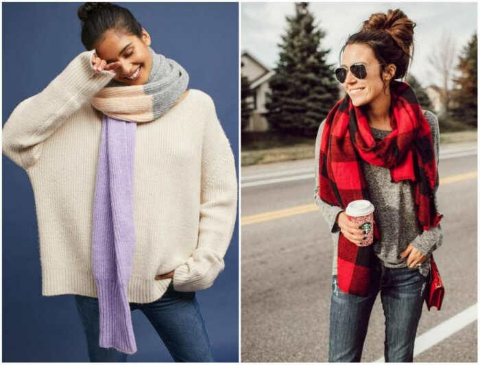 Тонкие шарфы. \ Фото: qadinla.com.