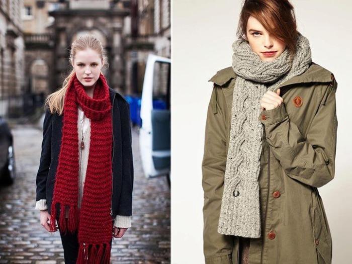 Модные вязаные шарфы. \ Фото: facebook.com.