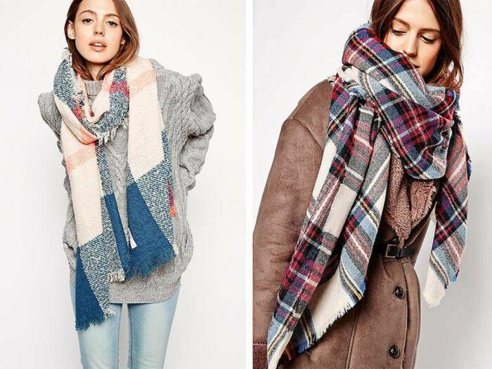 Модные и стильные шарфы сезона осень-зима 2020-2021. \ Фото: georgiynn.ru.