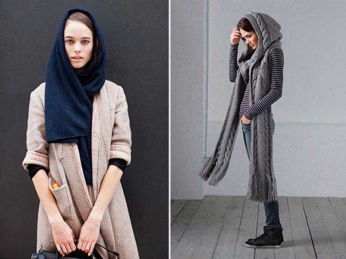 Модные новинки шарфов. \ Фото: google.com.