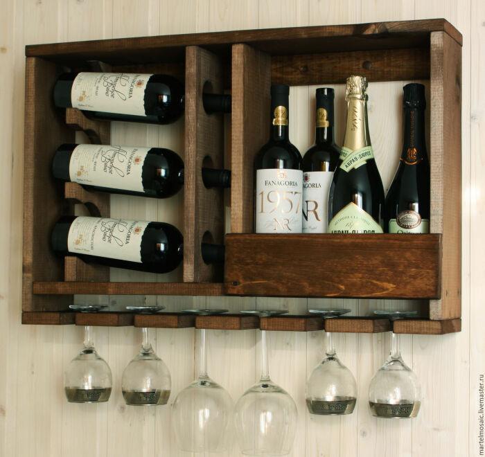 Полка-стеллаж для вина. \ Фото: stylemotivation.com