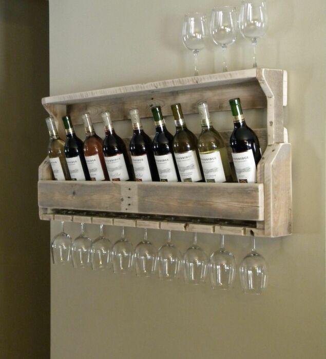 Полка для бутылок. \ Фото: pinterest.com.