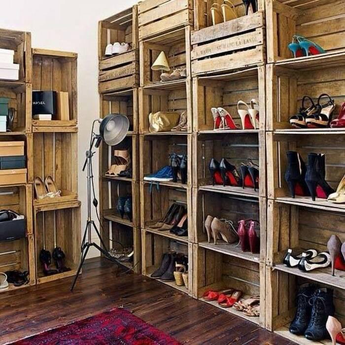 Стеллаж для хранения обуви. \ Фото: happynest.vn.