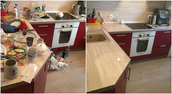 Уборка на кухне. \ Фото: yandex.ua.