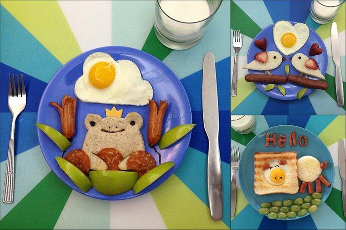 Креативные идеи для детских завтраков.