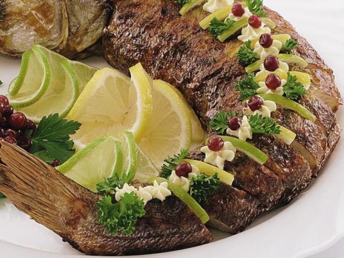 Фаршированная рыба.