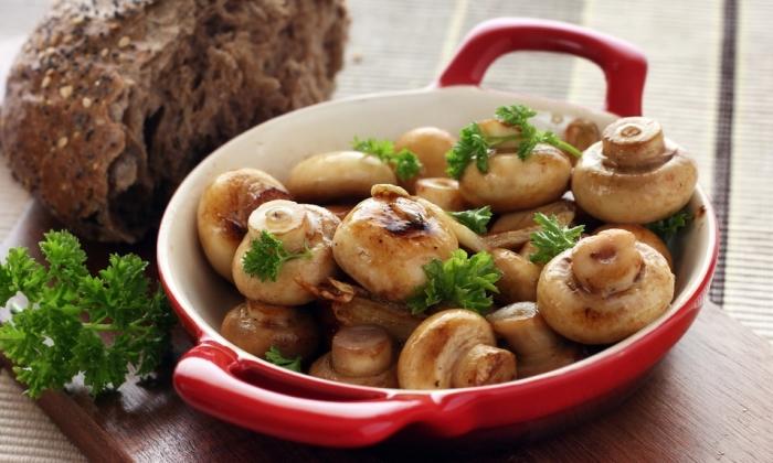 Жареные грибочки.