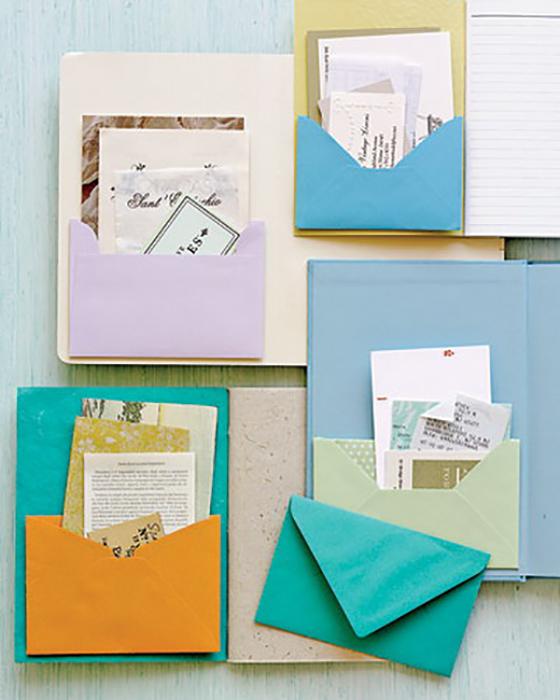 Конверты для хранения важных бумаг.